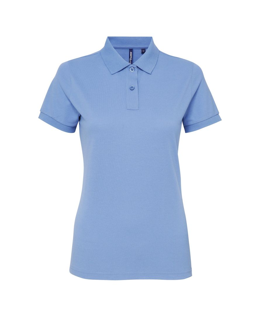 Image for Asquith & Fox Womens/Ladies Short Sleeve Performance Blend Polo Shirt (Cornflower)