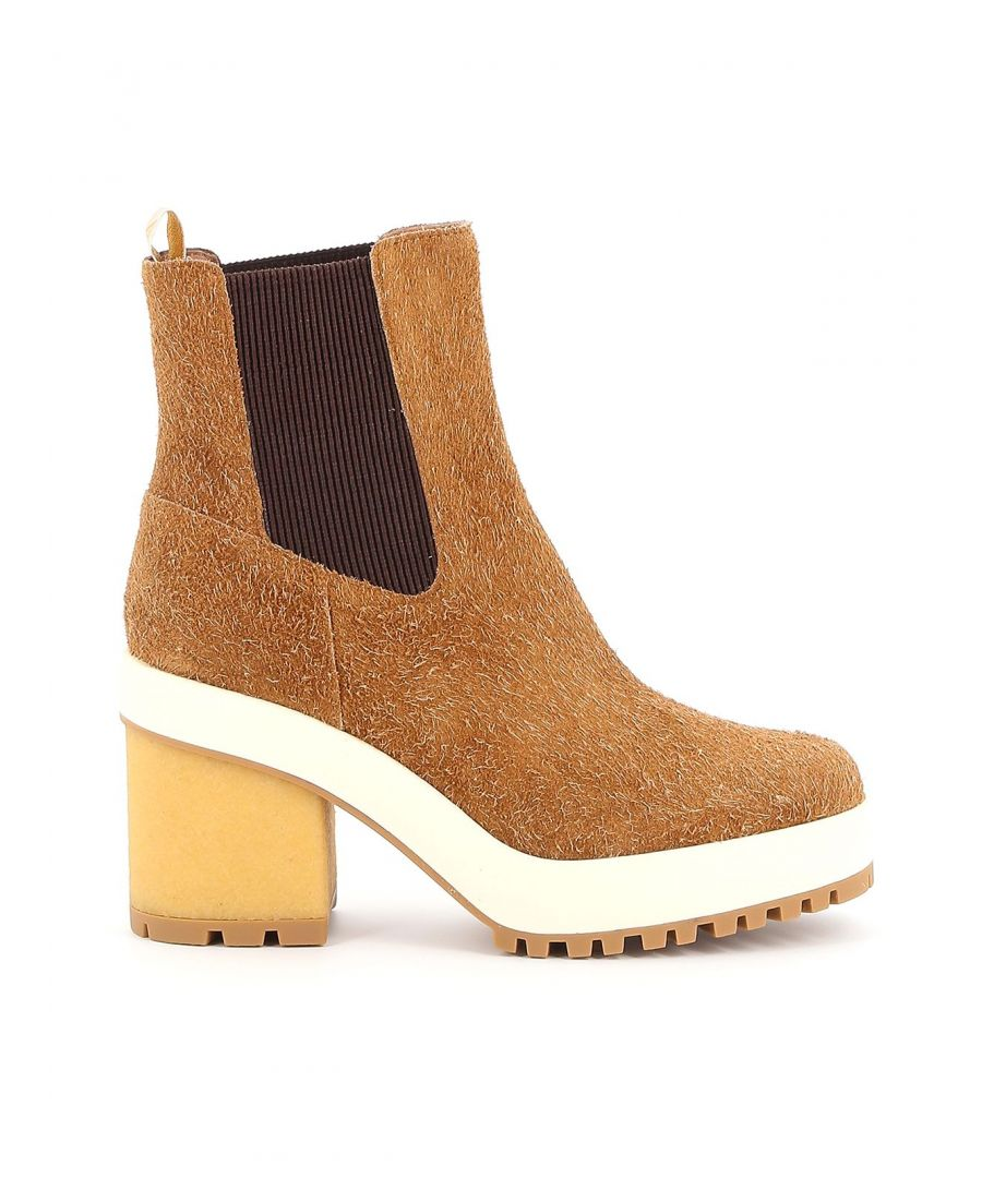 Image for HOGAN WOMEN'S HXW4750BZ70LQLC821 BROWN LEATHER ANKLE BOOTS