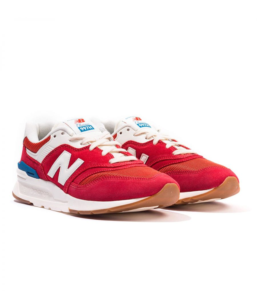 Image for New Balance 977H Suede & Mesh Trainers - Red