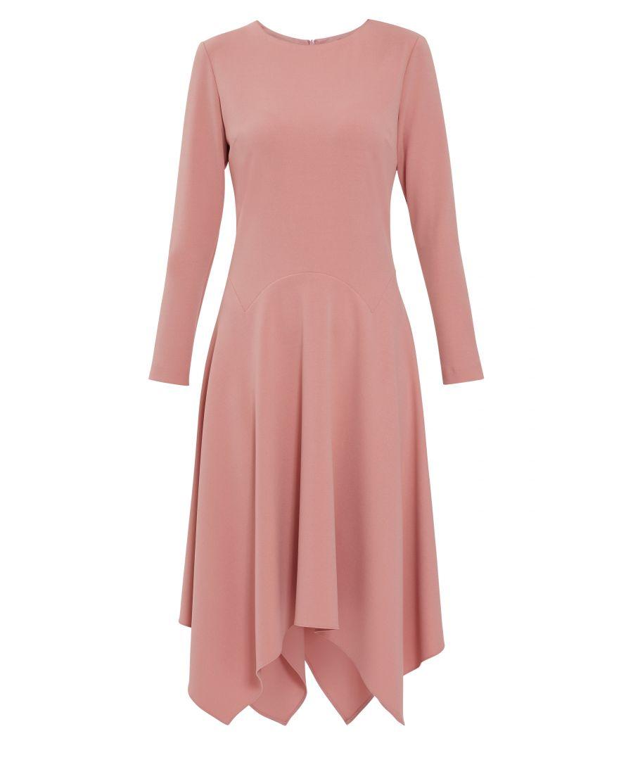 Image for Gina Bacconi Lulana Soft Crepe Dress in Pink