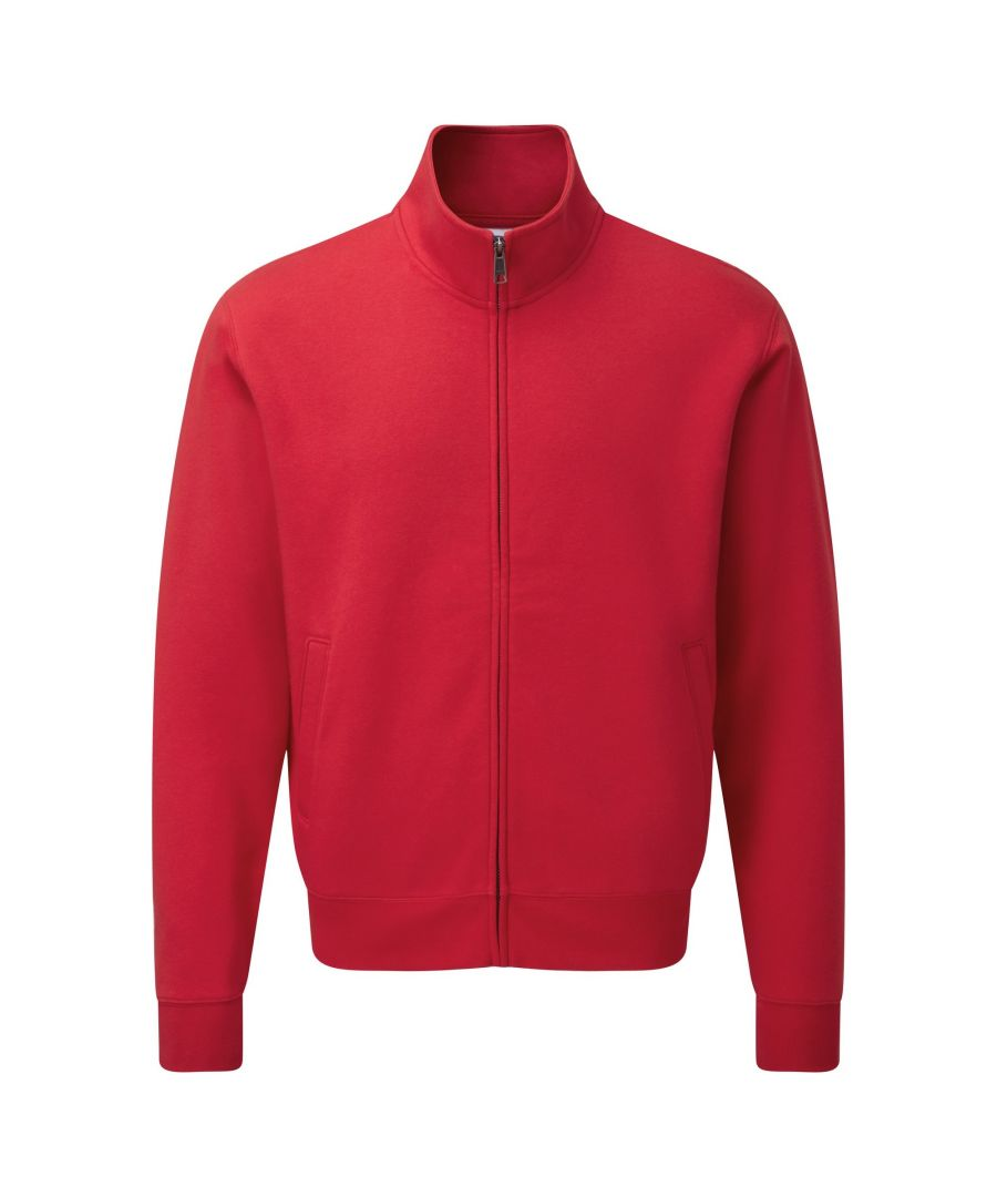 Image for Russell Mens Authentic Full Zip Sweatshirt Jacket (Classic Red)