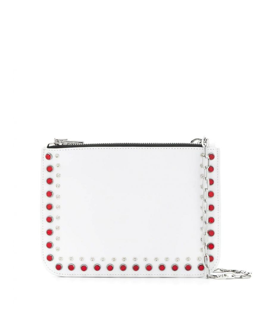 Image for MCQ BY ALEXANDER MCQUEEN WOMEN'S 556822R7B209000 WHITE LEATHER POUCH