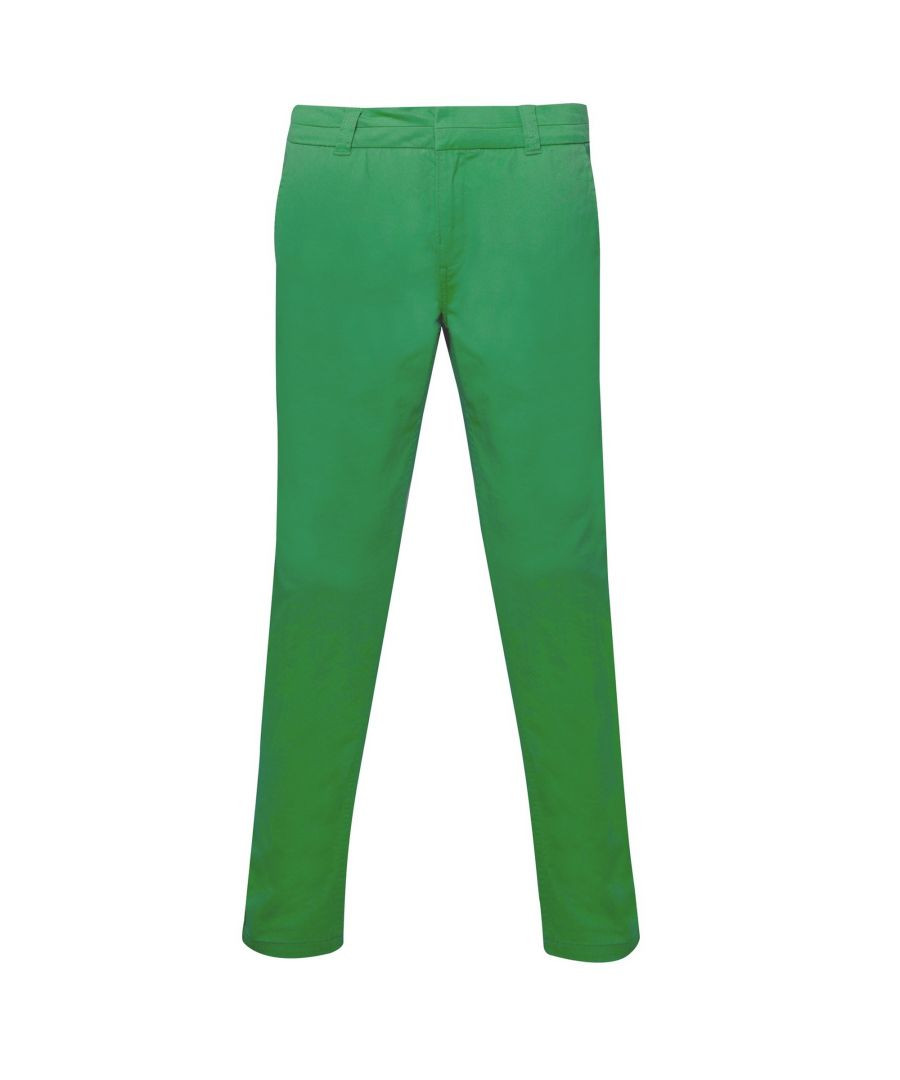 Image for Asquith & Fox Womens/Ladies Casual Chino Trousers (Kelly Green)