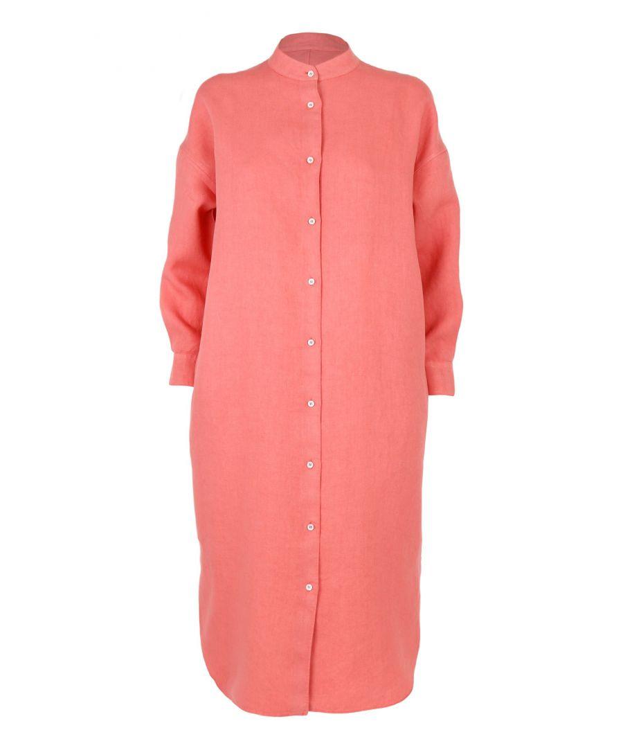 Image for ASPESI WOMEN'S H605G79685272 PINK LINEN DRESS