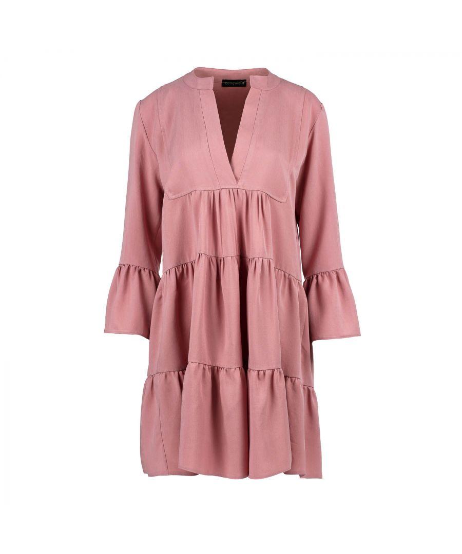 Image for Dark Pink Loose A Line Dress