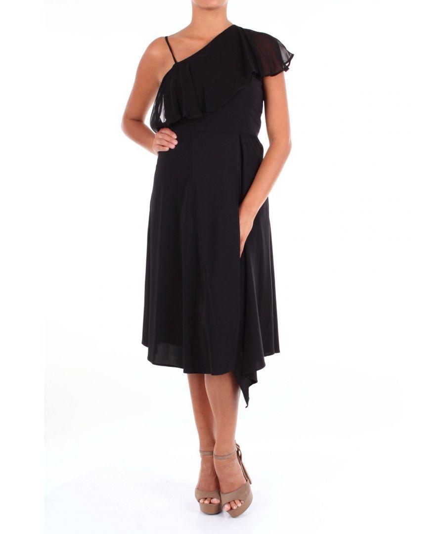 Image for JUCCA WOMEN'S J2917004BLACK BLACK VISCOSE DRESS