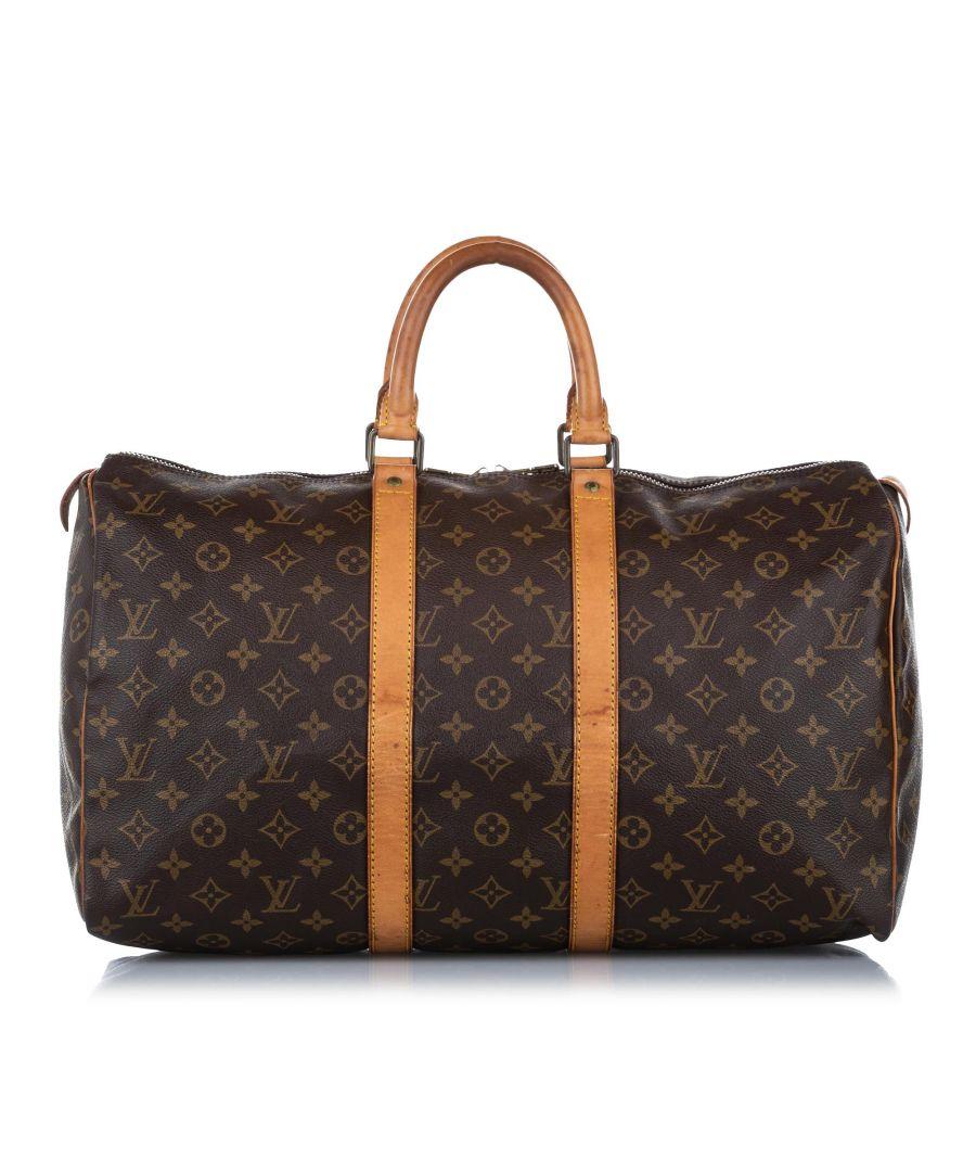 Image for Vintage Louis Vuitton Monogram Keepall 45 Brown