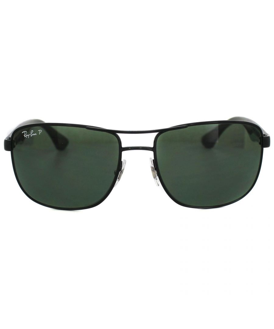 Image for Ray-Ban Sunglasses 3533 002/9A Black & Transparent Green Polarized