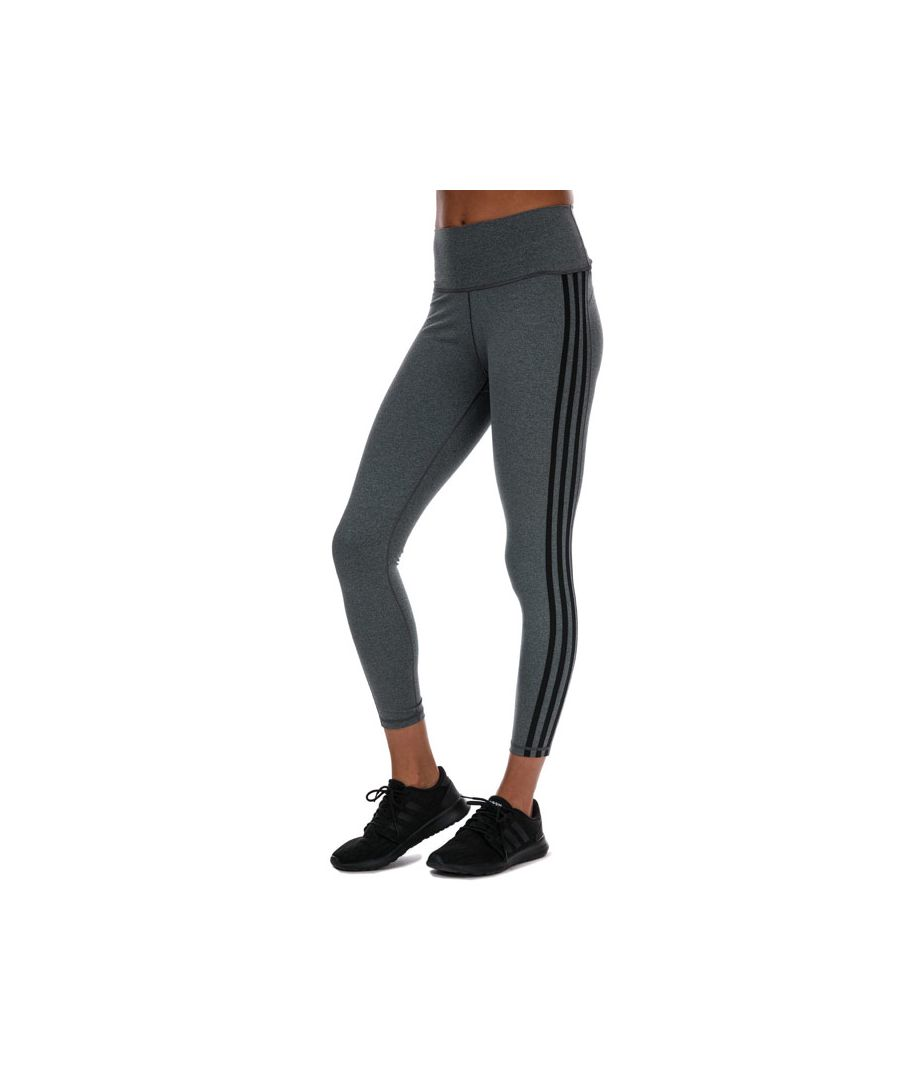 Image for Women's adidas Believe This 2.0 3-Stripes 7/8 Tights in Charcoal Marl