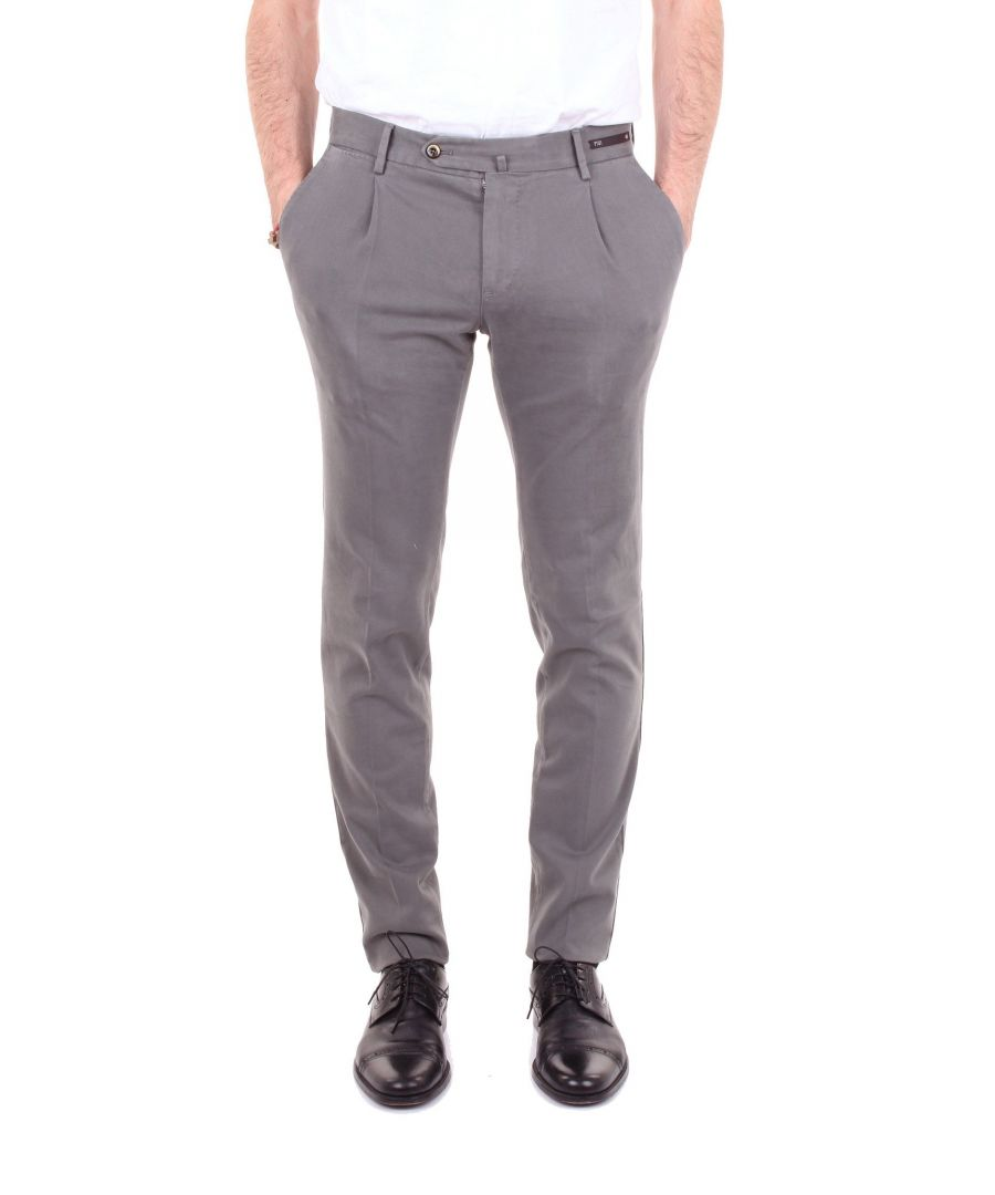 Image for PT01 MEN'S EB19DT11Z00CL1GREY GREY COTTON PANTS