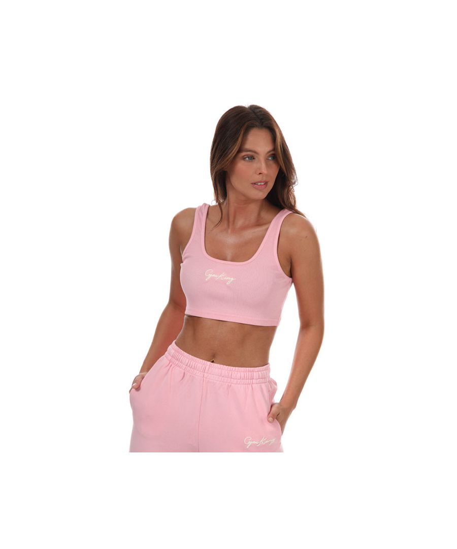Image for Women's Gym King Ambition Crop Top in Pink Yellow