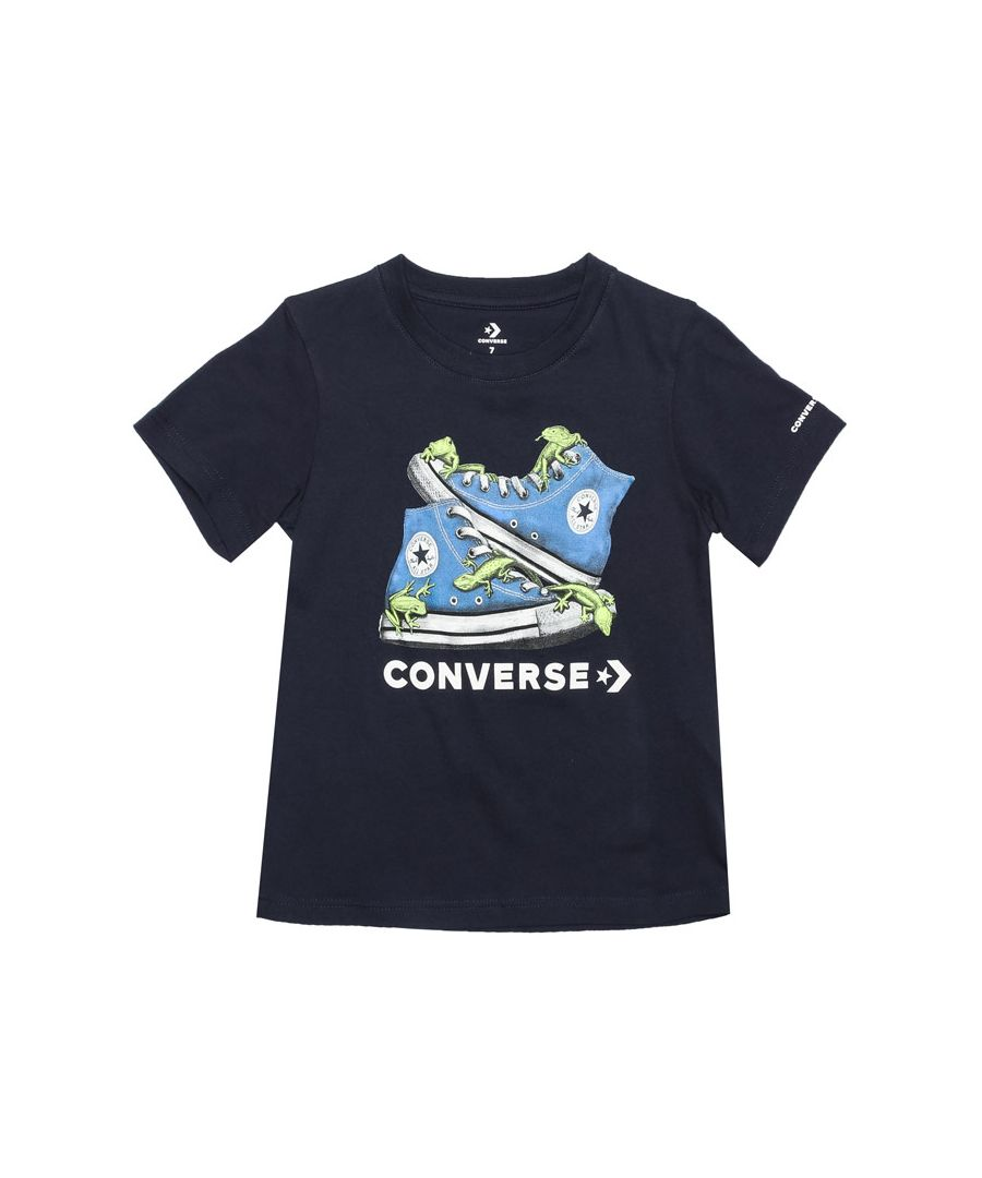 Image for Boy's Converse Infant Bio Chuck T-Shirt in Navy