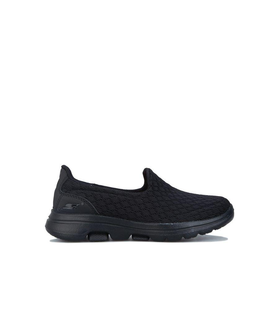 Image for Girl's Skechers Junior Go Walk 5 Slip On Trainers in Black