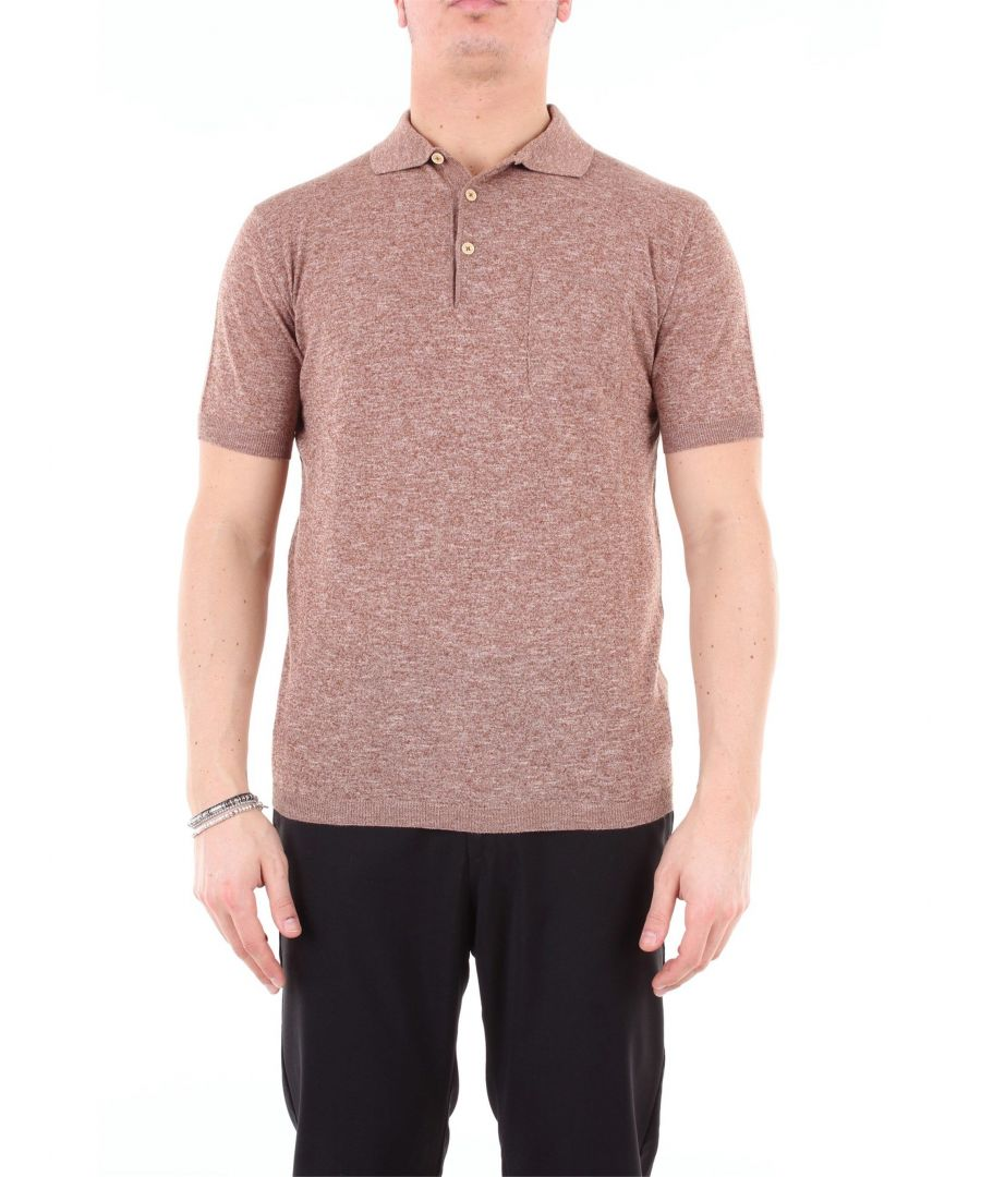 Image for HERITAGE MEN'S 0212P6ZMARRONE BROWN COTTON POLO SHIRT