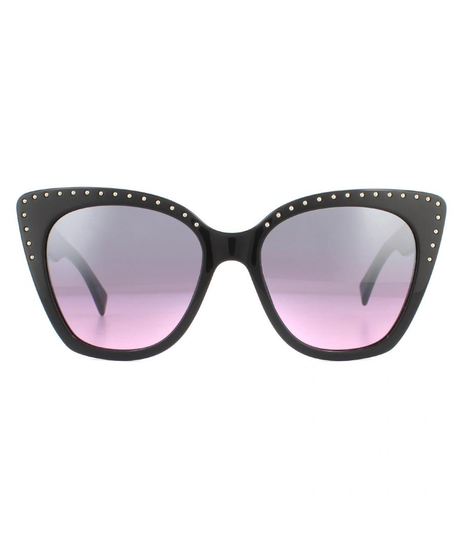 Image for Moschino Sunglasses MOS005/S BSC E8 Black Silver Grey Pink Mirror