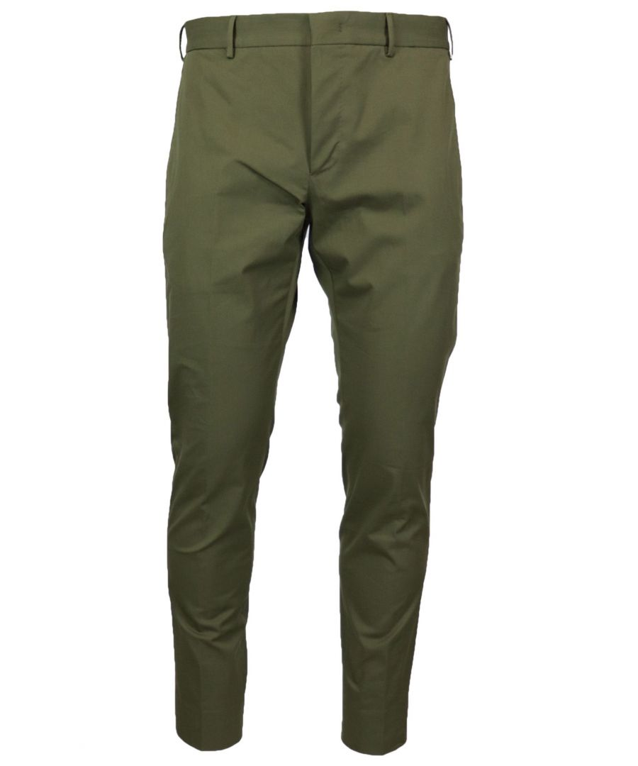 Image for PT01 MEN'S COASEPZE0KLTMP45445 GREEN COTTON PANTS