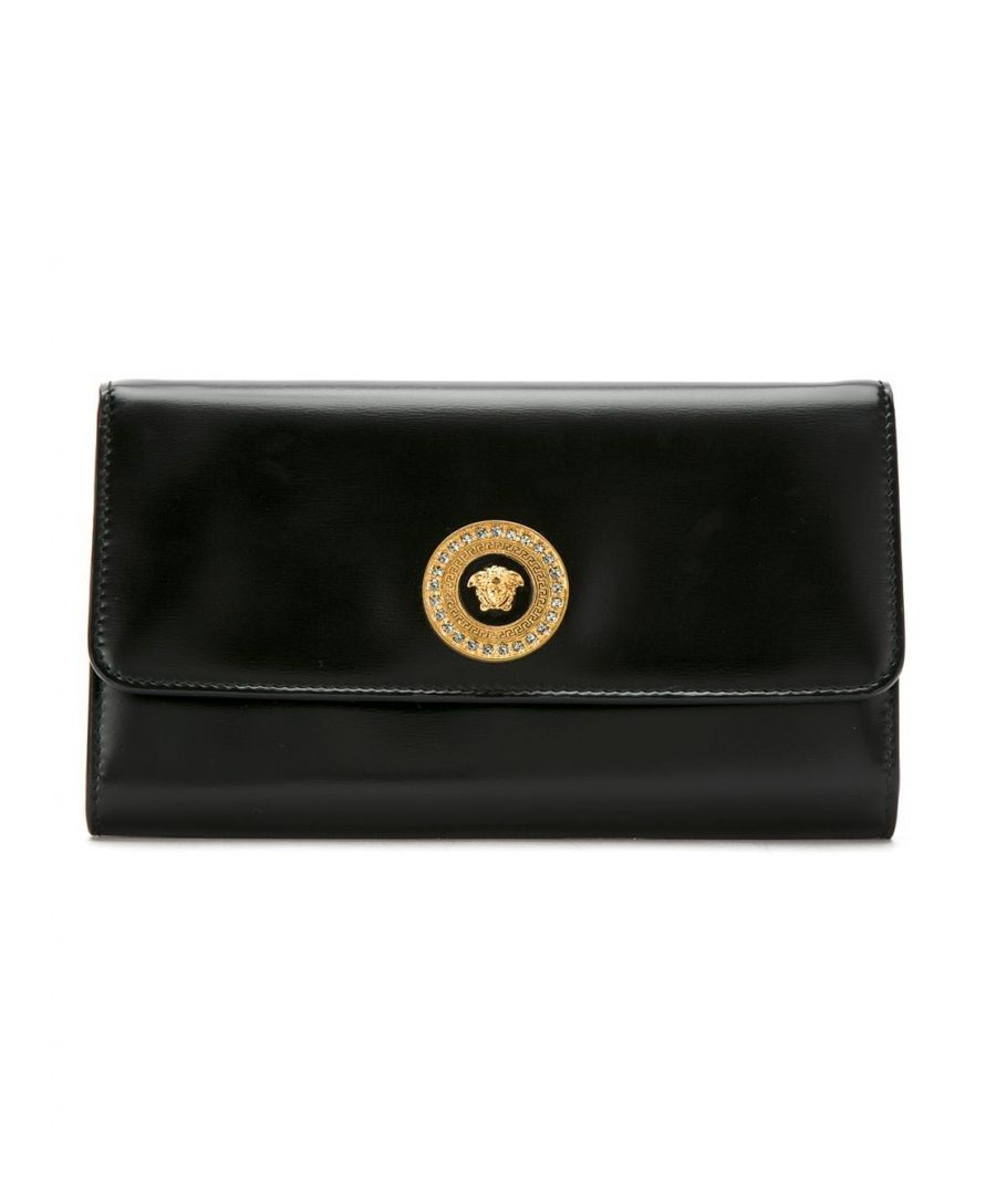 Image for VERSACE WOMEN'S DBSG377DVTH3K41OT BLACK LEATHER POUCH
