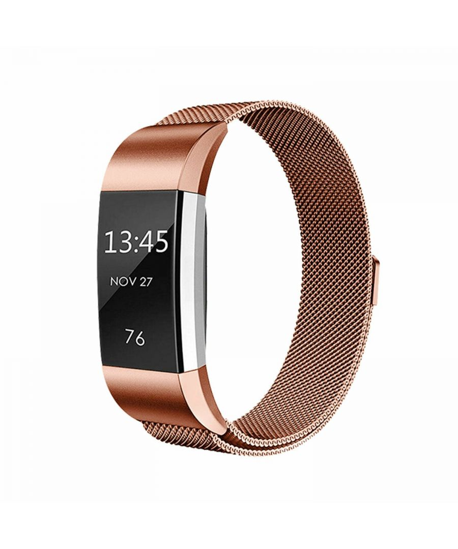 Image for Aquarius Fitbit Charge 2 Milanese Replacement Straps Rose Gold