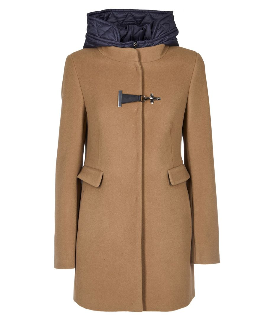 Image for FAY WOMEN'S NAW59393430RFPS006 BEIGE WOOL COAT