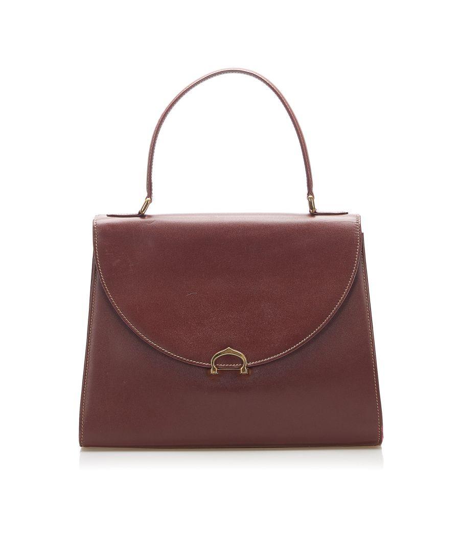 Image for Vintage Cartier Must de Cartier Leather Handbag Red