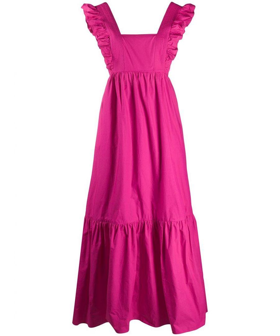 Image for SELF-PORTRAIT WOMEN'S SS20014FUCHSIA FUCHSIA COTTON DRESS