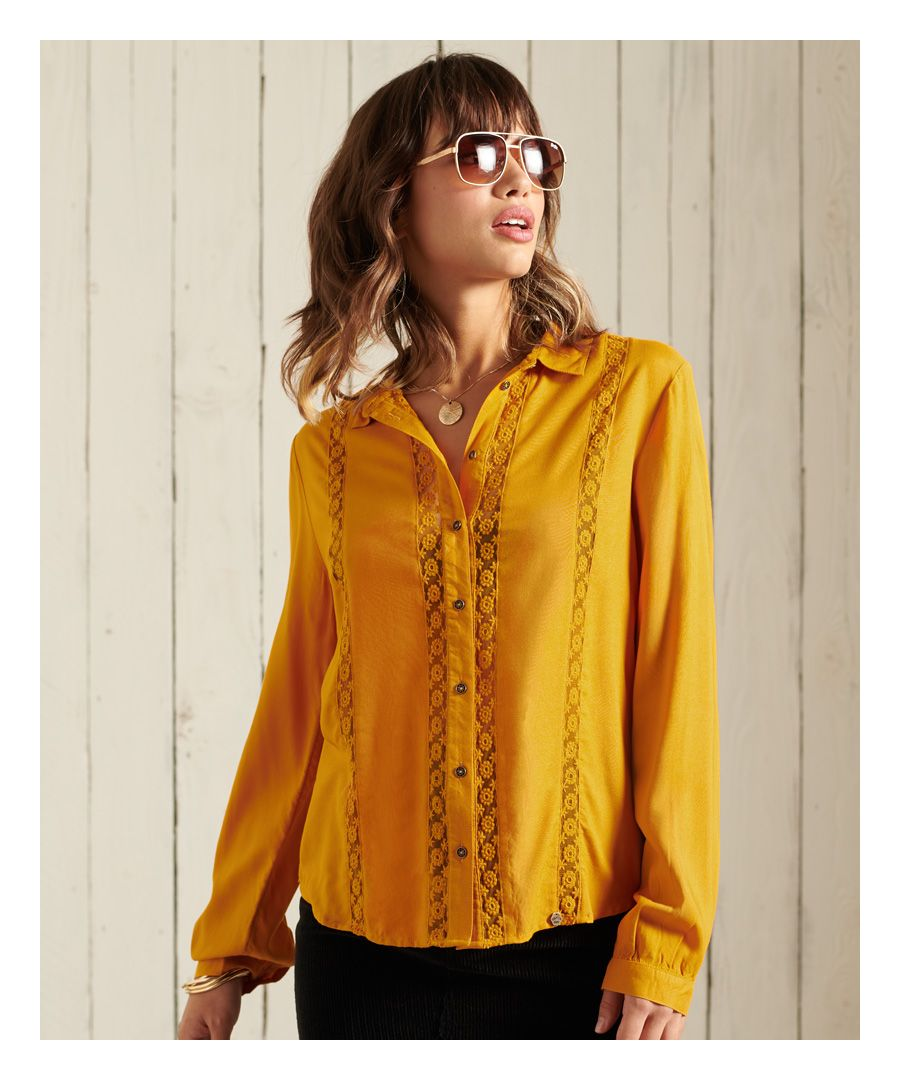 Image for Superdry Amelie Lace Shirt