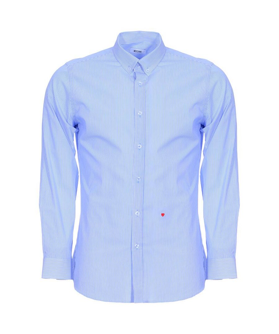Image for Button Shirt-light blue stripe and white stripe