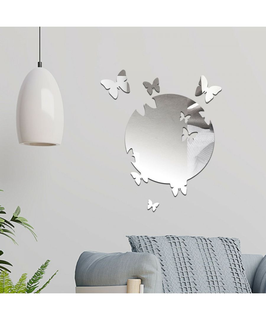 Image for Butterfly Mirror Wall Art  Self Adhesive DIY Wall Art, Wall Art Living Room, Mirror Wall Art