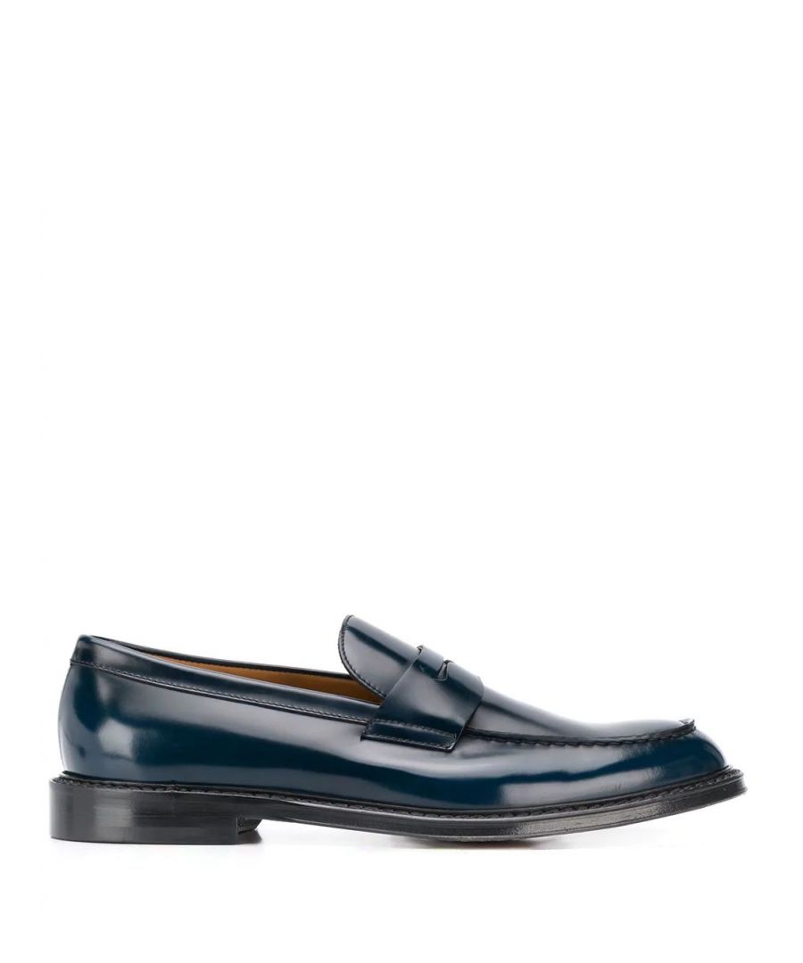 Image for DOUCAL'S MEN'S DU2405PHOEUF007NB10 BLUE LEATHER LOAFERS