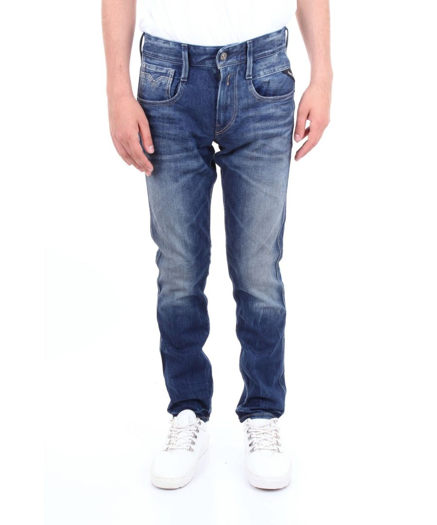 Image for REPLAY MEN'S MA91459A838BLUJEANS BLUE COTTON JEANS