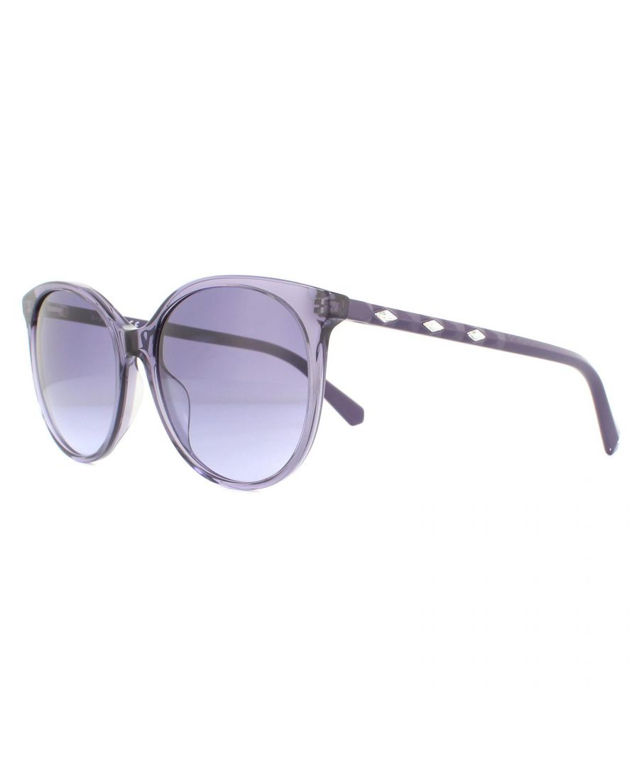 Image for Swarovski Sunglasses SK0223 78Z Glossy Lilac Purple Gradient Mirror