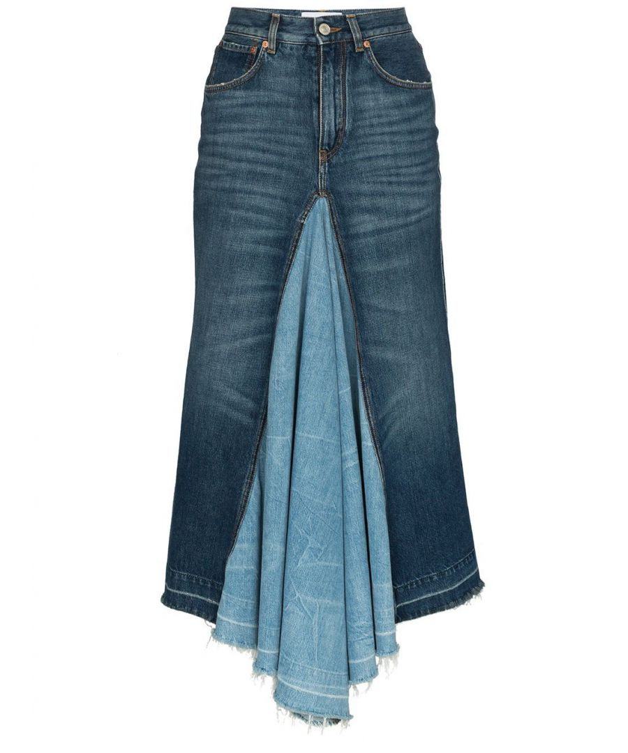 Image for GIVENCHY WOMEN'S BW40DS50EY420 BLUE COTTON SKIRT