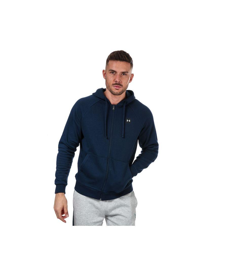 Image for Men's Under Armour Rival Fleece Zip Hoodie in Navy