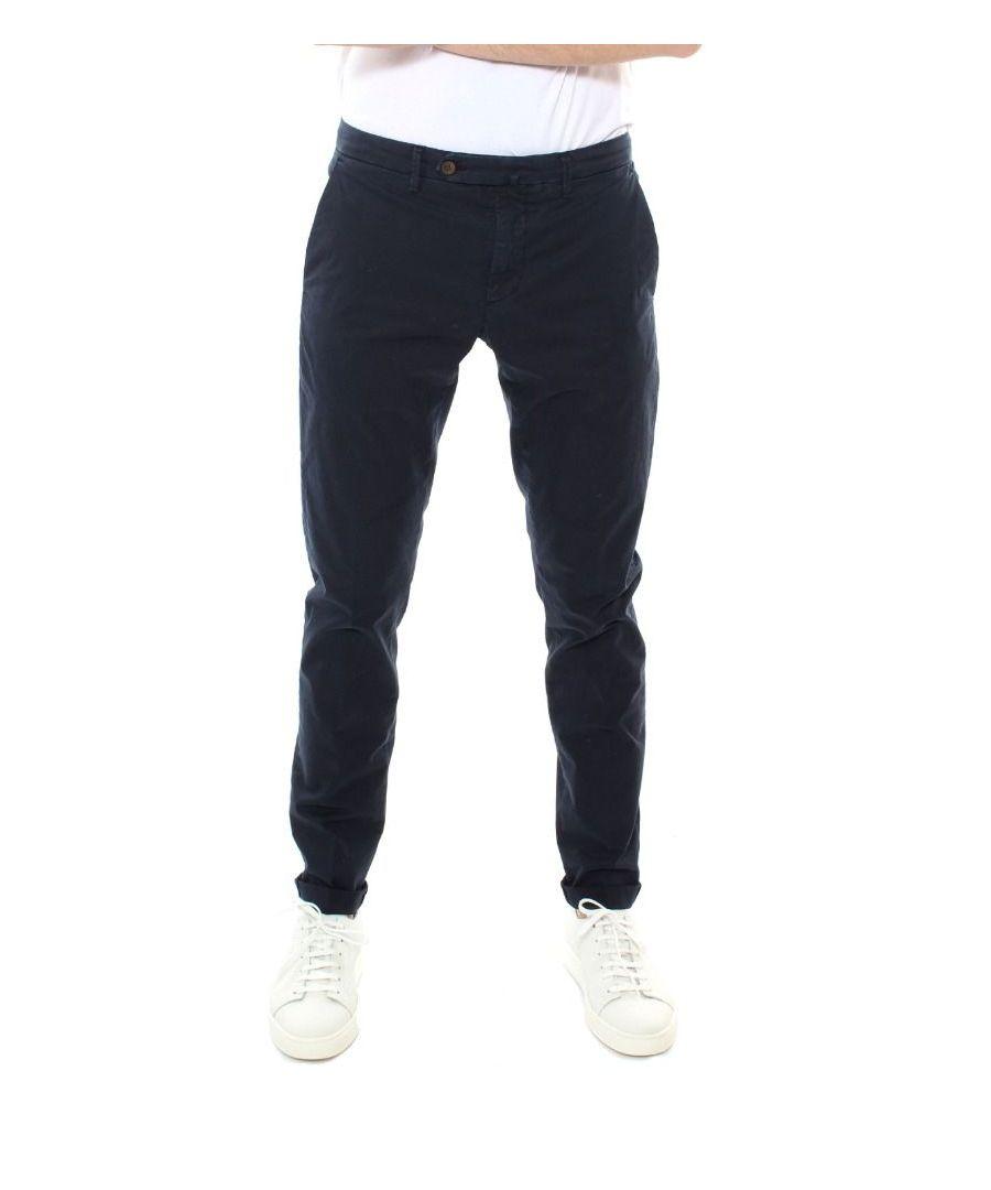 Image for SIVIGLIA MEN'S B2E6S0076685 BLUE COTTON PANTS