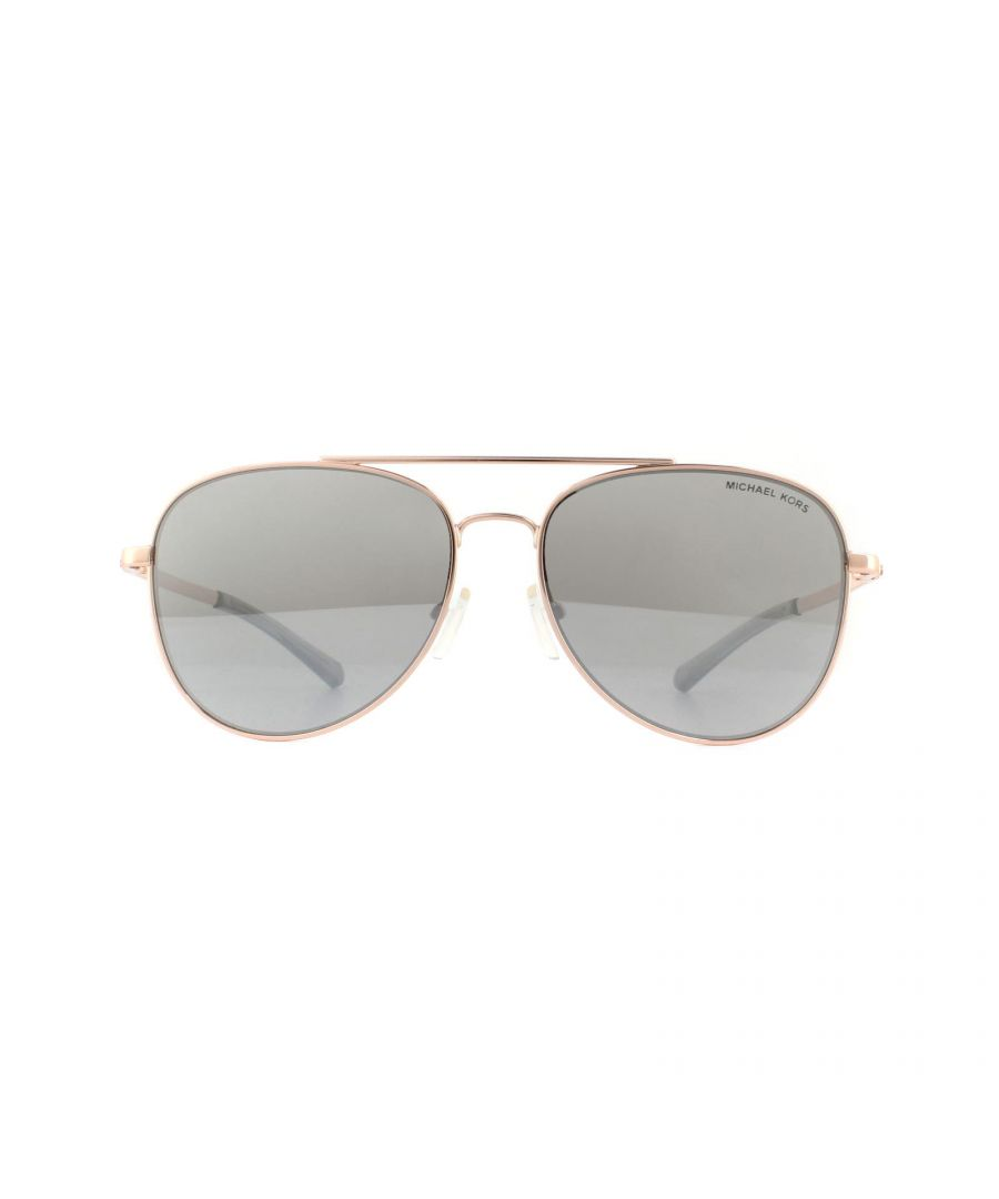 Image for Michael Kors Sunglasses San Diego 1045 11086G Rose Gold Silver Mirror