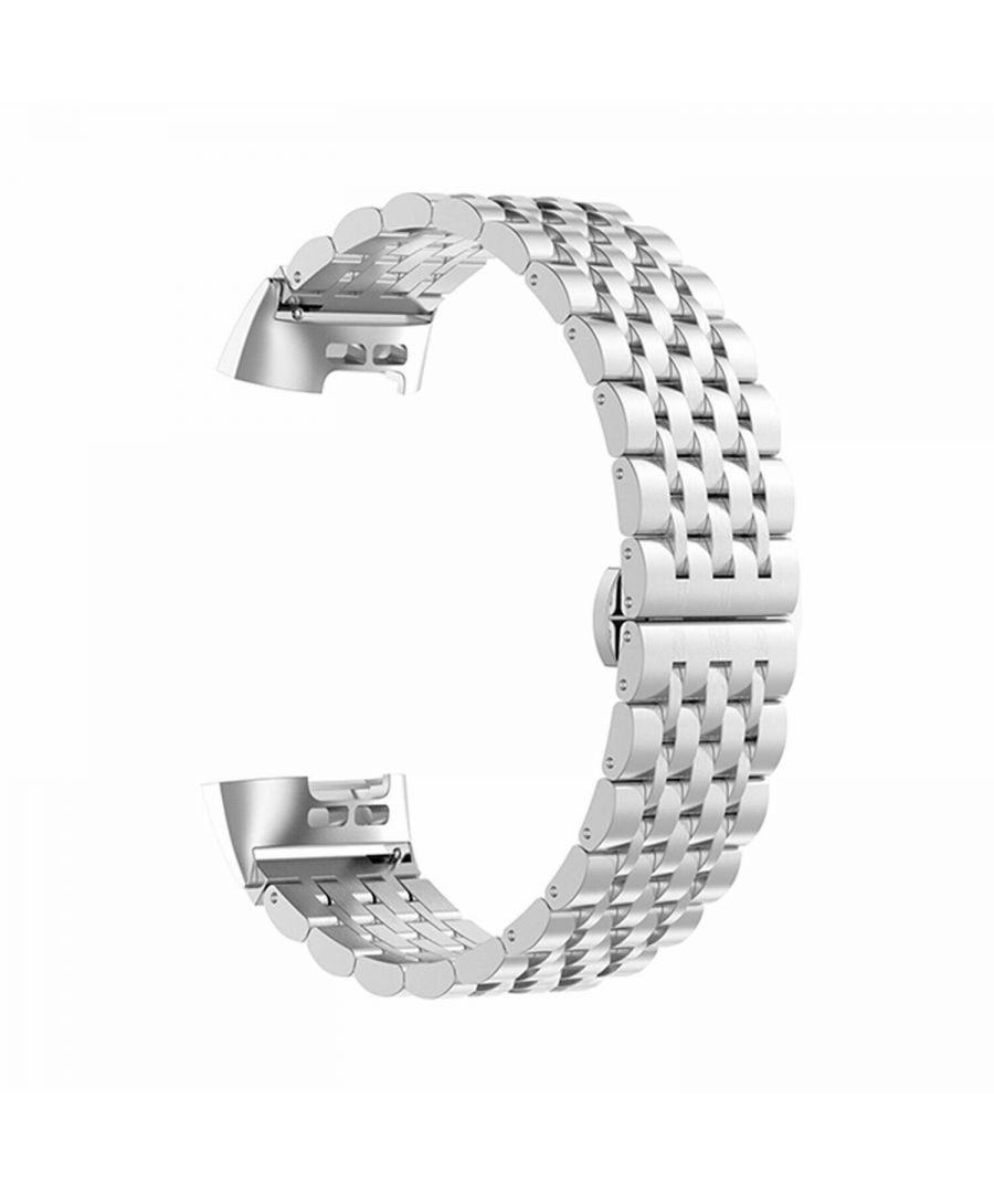 Image for Aquarius Metal Watch Band for Fitbit Charge 3 Silver