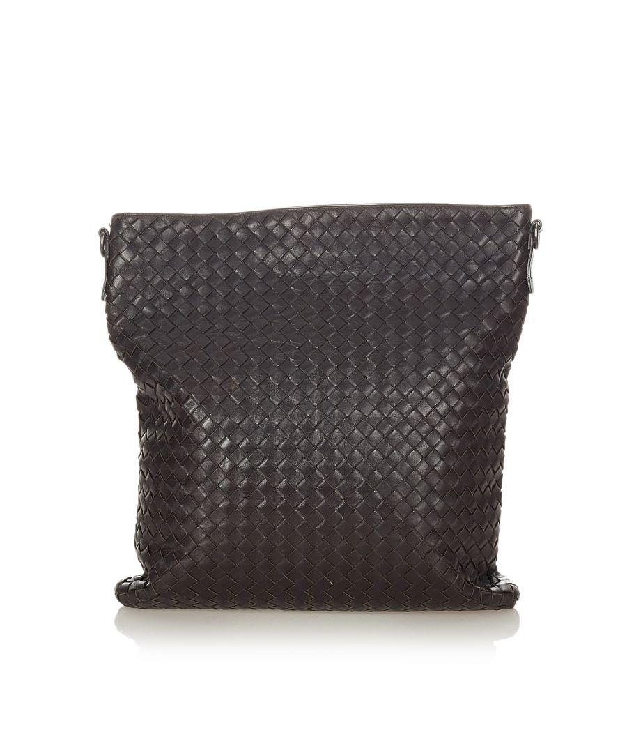 Image for Vintage Bottega Veneta Intrecciato Leather Crossbody Bag Brown