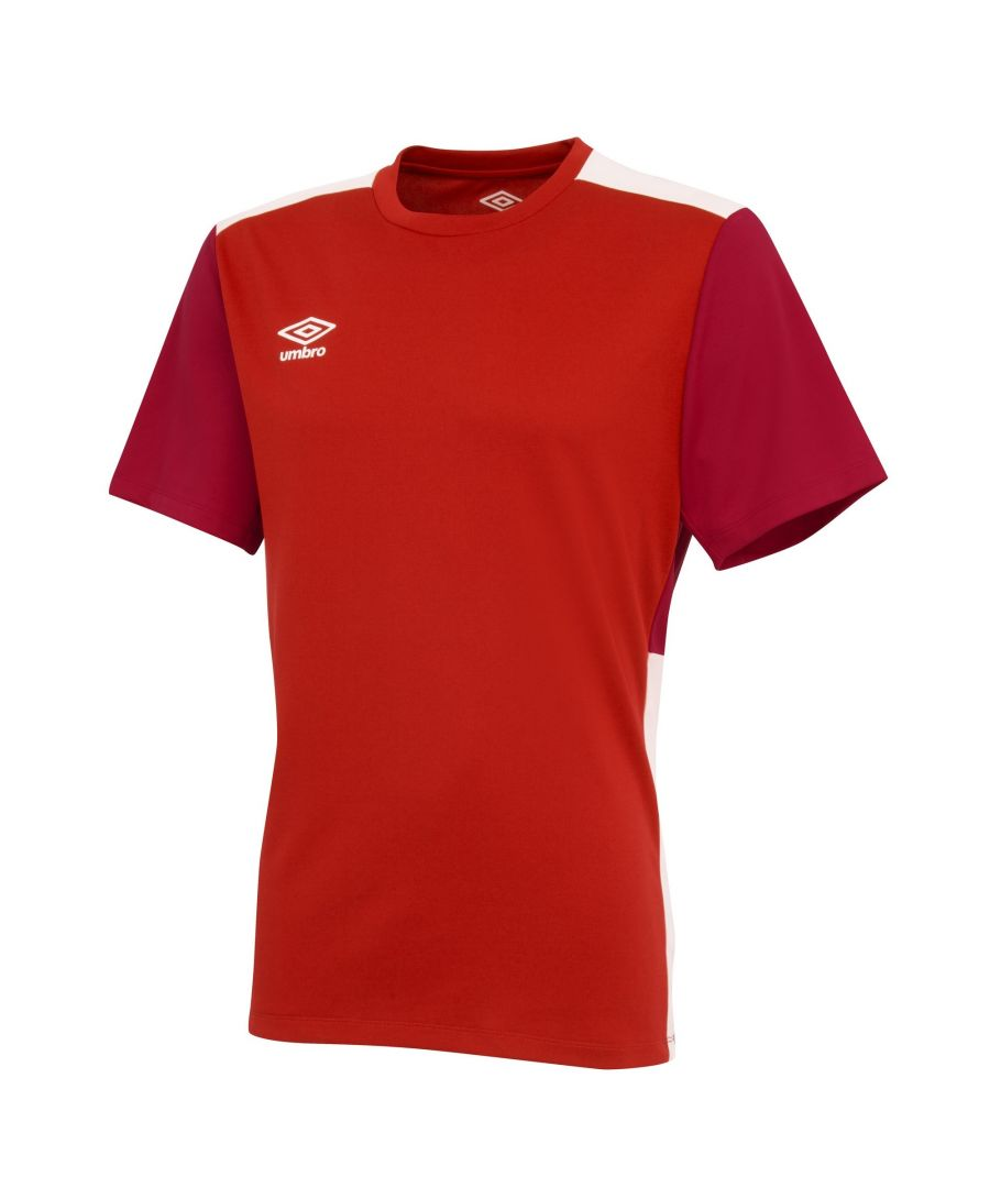 Image for Umbro Boys Polyester Training Jersey (Vermillion/Jester Red/White)