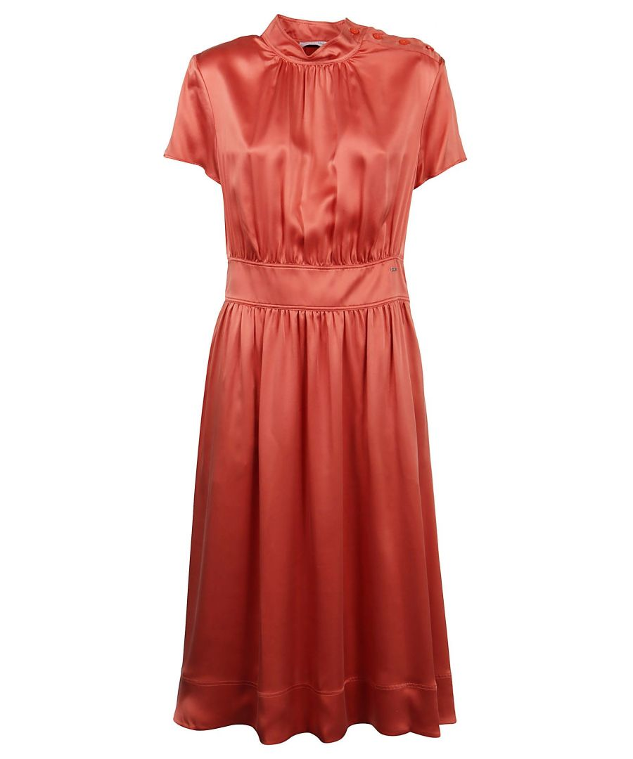 Image for CALVIN KLEIN WOMEN'S K20K201557XMW PINK SILK DRESS