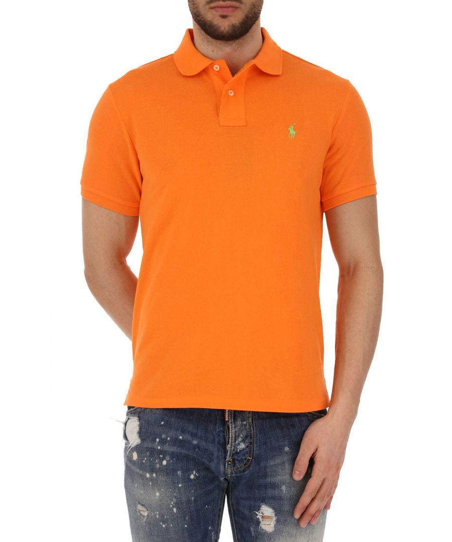 Image for RALPH LAUREN MEN'S 710680784037 ORANGE COTTON POLO SHIRT