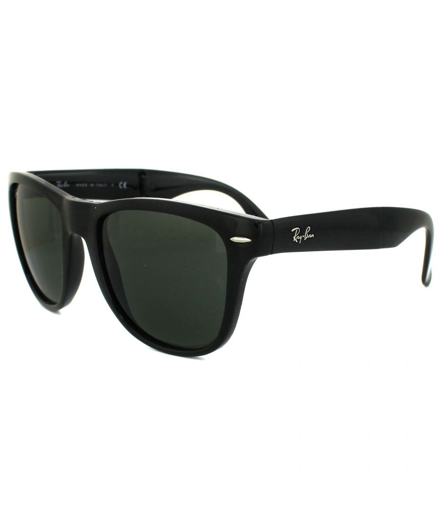 Image for Ray-Ban Sunglasses Folding Wayfarer 4105 Black 601 54mm