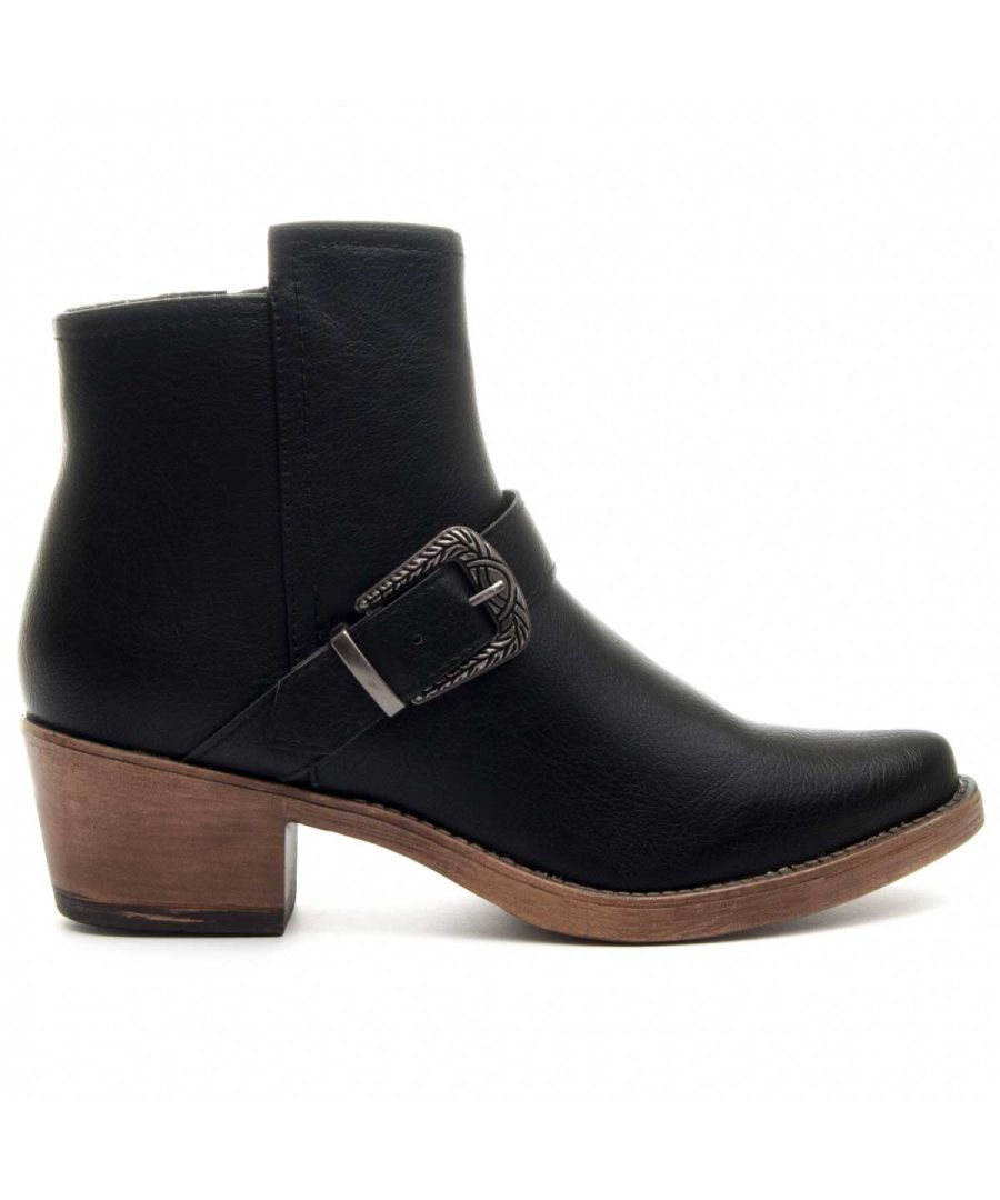 Image for Montevita Buckle Ankle Boot in Black