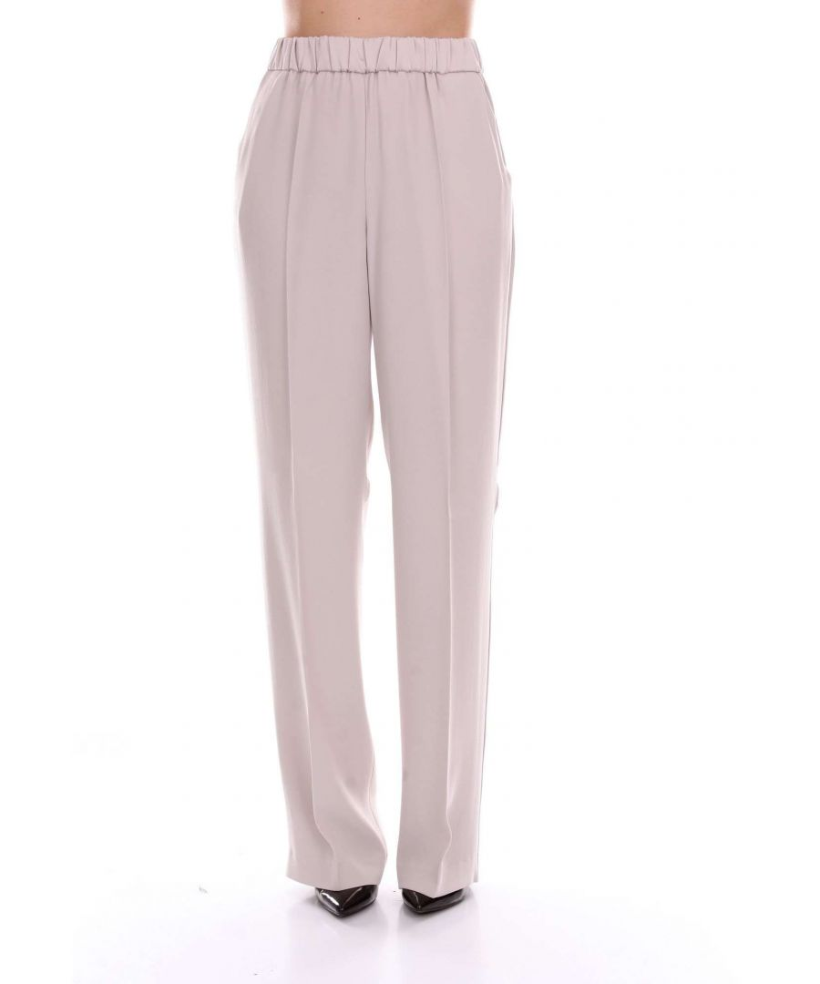 Image for LES COPAINS WOMEN'S 0L3380BEIGE BEIGE OTHER MATERIALS PANTS