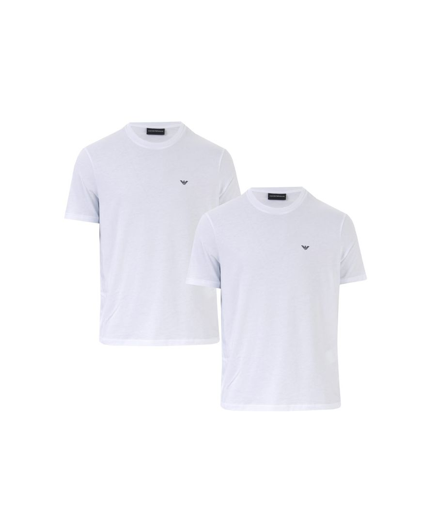 Image for Men's Armani 2 Pack T-Shirts in White