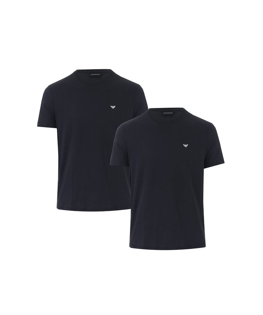Image for Men's Armani 2 Pack T-Shirts in Blue