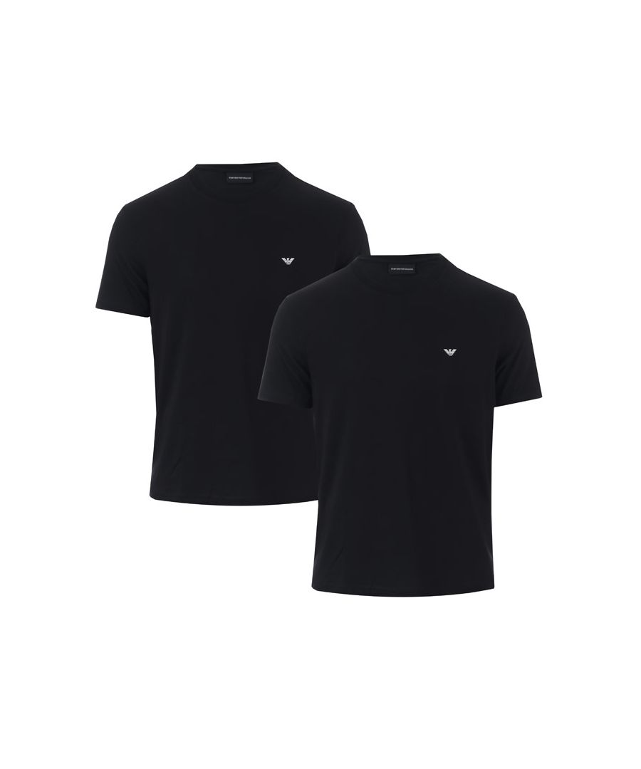 Image for Men's Armani 2 Pack T-Shirts in Black