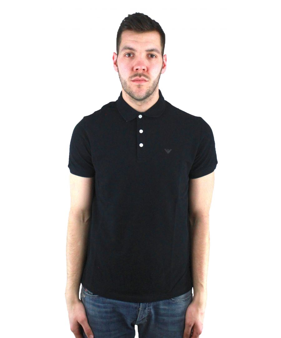 Image for Emporio Armani 8N1F12 1J0SZ 0999 Polo Shirt