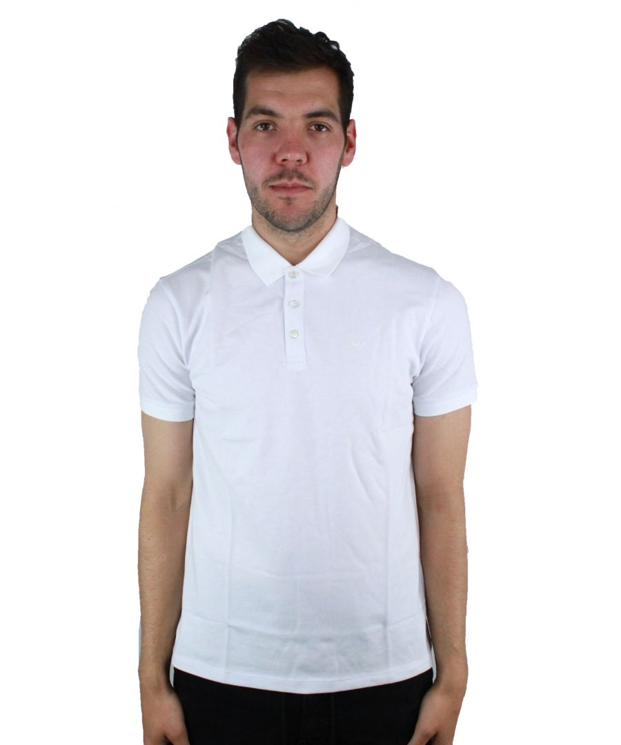 Image for Emporio Armani 8N1F12 1JPTZ 0100 Mens Polo Shirt