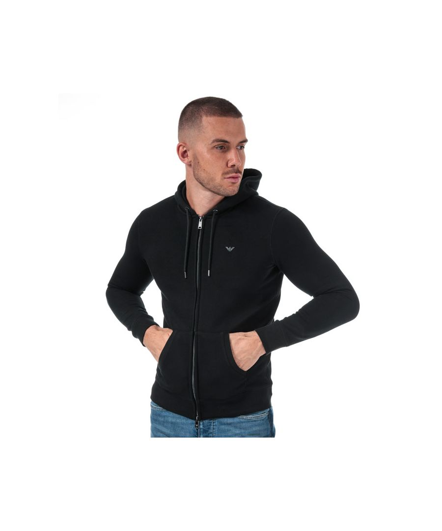 Image for Men's Armani Logo Zip Hoody in Black