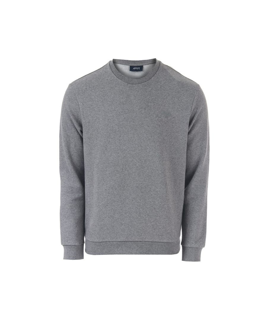 Image for Men's Armani Crew Neck Sweatshirt in Grey